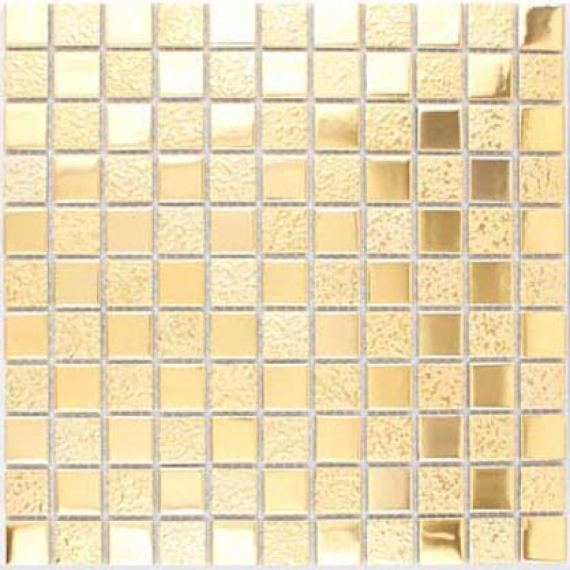 Gold Porcelain Tiles Bathroom Wall Backsplash Glazed Ceramic Mosaic