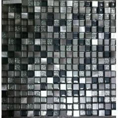 "Crystal Glass Plated Mosaic Sheet 3/5"" Square Glass Tile Backsplash Wall Bathroom"