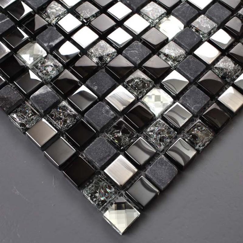 crystal glass diamond mosaic wall ks66b brushed glass marble tiles