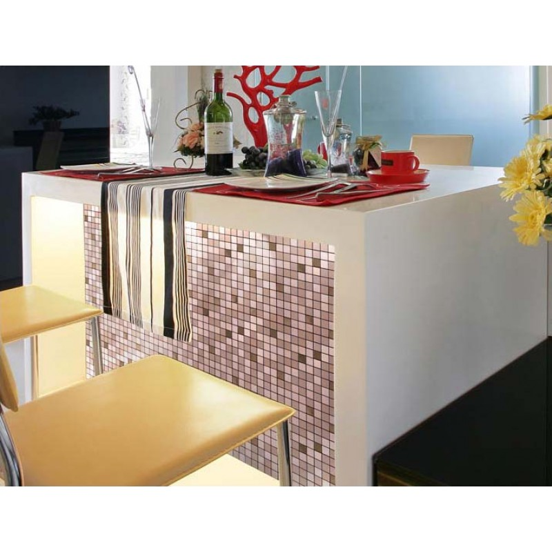 metallic mosaic tile cinnamon square brushed aluminum panel stainless steel metal wall decoration