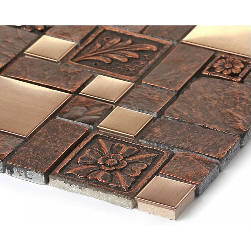 Ceramic Tile Apartment Design: Wholesale Porcelain Tiles Square Mosaic Tile Design Metal