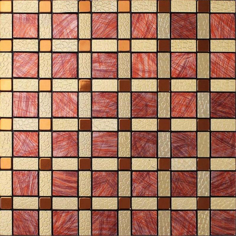 Wholesale metal tiles backsplash gold bump arts aluminum for Unique mosaic tile