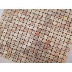Adhesive Mosaic Tile Kitchen Backsplash Gold Aluminum Metal and Glass Diamond Peel and Stick Tiles Tile MH-16