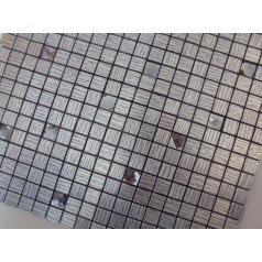 Adhesive Mosaic Tile Kitchen Backsplash Aluminum Metal and Glass Diamond Peel and Stick Tiles Tile  MH-17