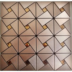 Peel and Stick Tile Pinwheel Patterns Aluminum Metal Wall Tile Glass Diamond Tiles Adhsive Mosaic MH-ASJ-007