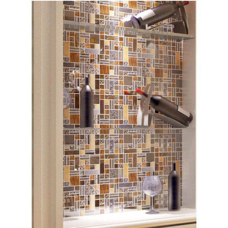 Hall Bathroom Tiles: Brown Crystal Glass Tile Aluminum Tile Glass Tile Bathroom