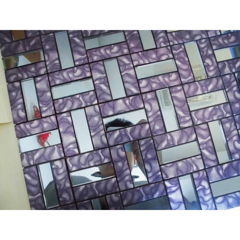 Kitchen Tiles Purple and stick tile aluminum metal wall tile purple glass diamond tiles