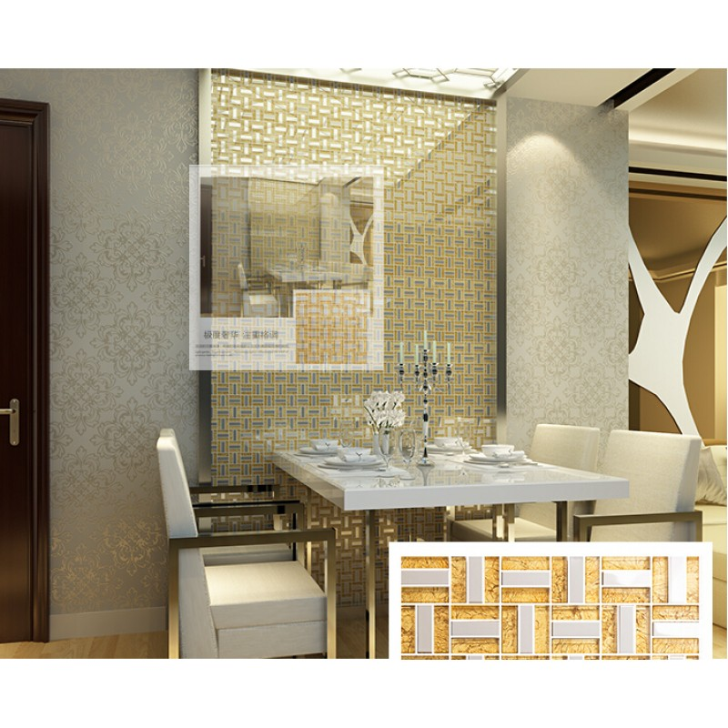 Silver 304 Stainless Steel TV Backgroud Tile Wall Deco