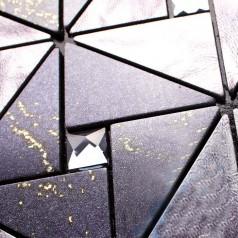 Metallic Tile Backsplash Kitchen Diamond Crystal Glass Mosaic Black Metal Aluminum Panel Wall Tiles