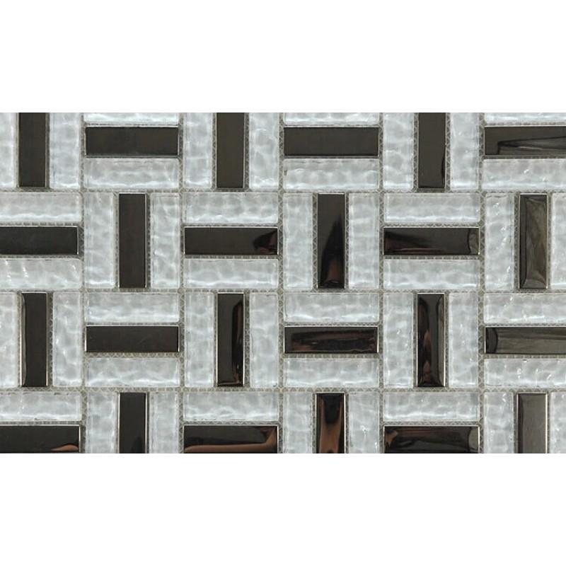 Backsplash Tile Sheets: Crystal Mosaic Tile Sheets Silver Plated Wall Tiles