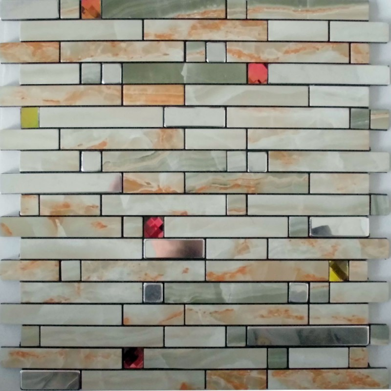 Adhesive Mosaic Tiles Strip Silver Aluminum Kitchen Backsplash Peel And Stick Crystal Glass Diamond Tile Mh 1598 1