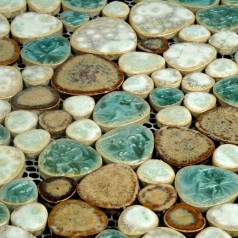 Porcelain Tile Pebbles Random Bricks Glazed Ceramic Mosaic Pebble Tiles Bathroom Backsplash BCP009