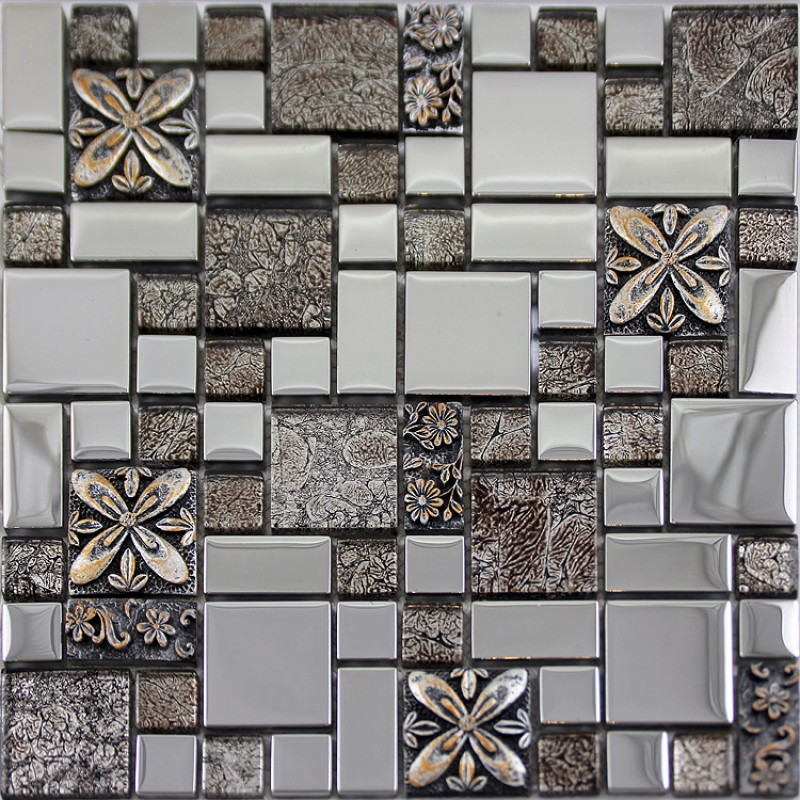 Glass Mosaic Tiles Blacksplash Crystal Mosaic Tile Bathroom Plated Wall  Porcelain Stickers GSB03 ... Part 80