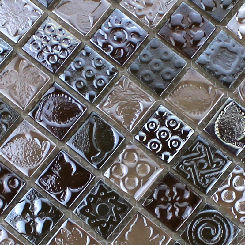 Glass Mosaic Tiles Melted Crack Crystal Backsplash Tile