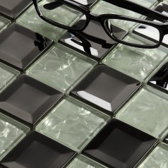 Glass Mosaic Tiles Blacksplash Crystal Mosaic Tile Bathroom Wall Colors Stickers Cheaper tiles 635
