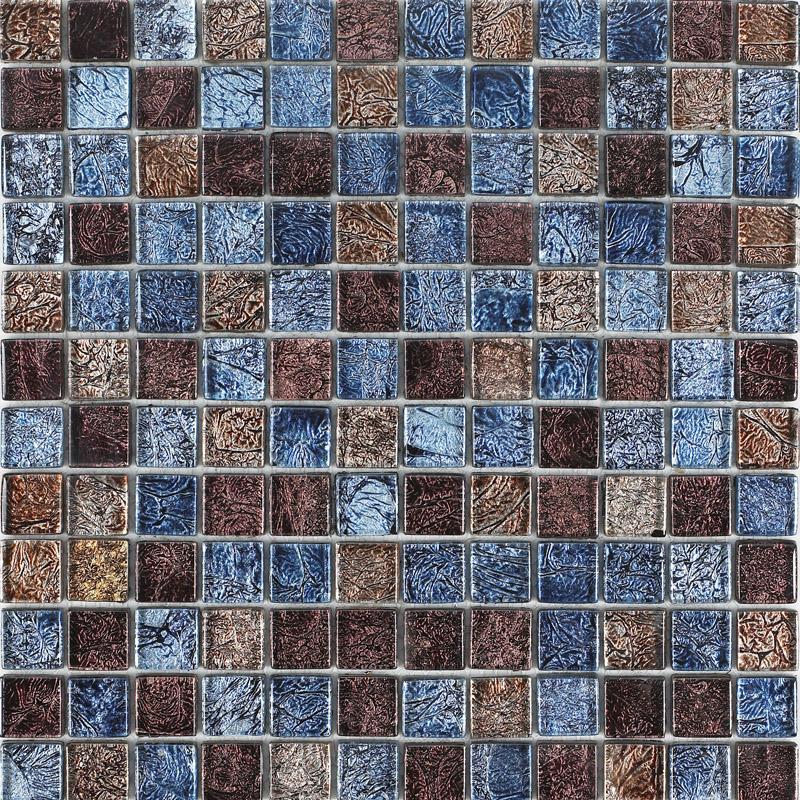 Glass mosaic tiles blacksplash crystal mosaic tile for Mosaic kitchen designs