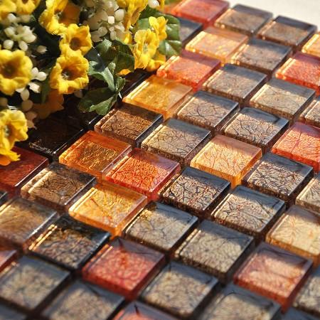 Glass Mosaic Tiles Blacksplashes Crystal Backsplash Tile Bathroom Wall Tiles Floor Stickers CB034