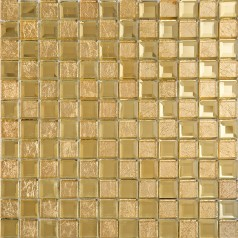 gold mirror glass tile crystal tile square kitchen backsplash bathroom shower tiles designs washroom wall decor KLGT4015