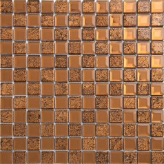 brown mirror glass tile crystal tile prymid wall backsplashes bathroom washroom wall KLGT4016