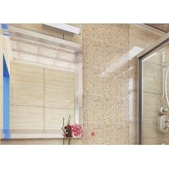 yellow crystal glass tiles crackle glass mosaic cracked patterns kitchen wall backsplash decor KLGT406