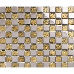 gold crystal glass tile bathroom tiles kitchen backsplash silver plated glass mosaic sheets KLGT658