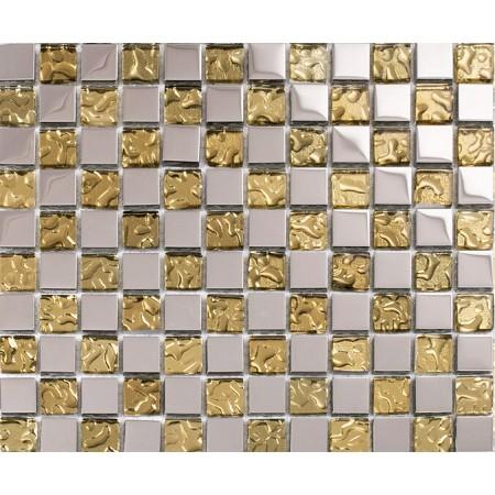 gold crystal glass tile bathroom tiles kitchen backsplash silver plated glass mosaic sheets KLGT658