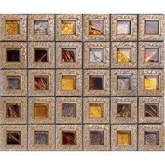 resin mosaic tile crystal glass tile backsplashes bathroom wall designs decor grid glass mosaic tiles KLGTJ88