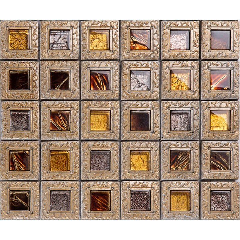 Kitchen Backsplash With Glass Tile Accents: Resin Mosaic Tile Crystal Glass Tile Backsplashes Bathroom
