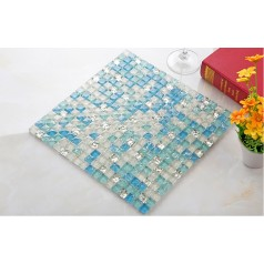 sea blue crystal glass tile backsplash kitchen backsplash crackle glass tiles bathroom shower wall backsplashes KLHJ02