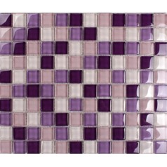 purple mosaic tiles crystal glass tile bathroom floor tiles wall backsplashes tiles KLNT165