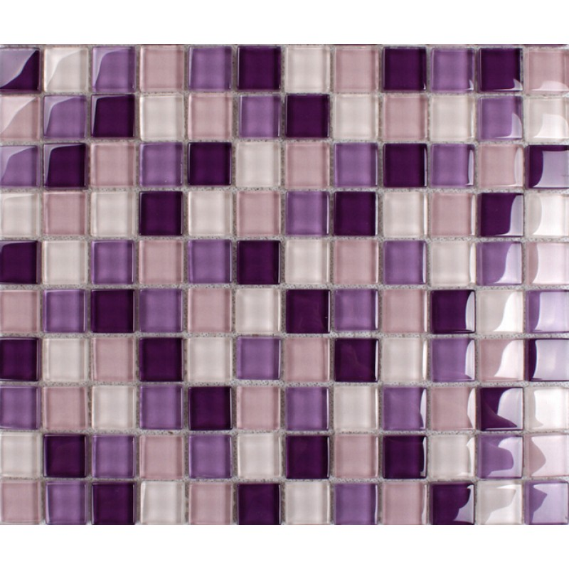 Purple Mosaic Tiles Crystal Glass Tile Bathroom Floor Wall Backsplashes KLNT165