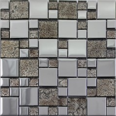 Glass Mosaic Tiles Blacksplash Crystal Mosaic Tile Bathroom Plated Glass Wall Colors Stickers SB03