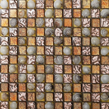 crystal glass mosaic tile kitchen wall backsplashes resin with conch shell tile bathroom SBLT617