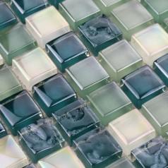 Vietrous Glass Mosaic Sheets Kitchen Blacksplash Iridescent Tile Bathroom Wall Stickers Cheap Tile T039
