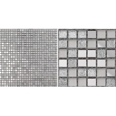 Glass Mosaic Tiles Crystal Backsplash Tile Bathroom Mirrored Wall Tile Mirror Stickers Z181