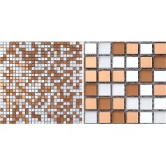 Glass Mosaic Tiles Brown Crystal Backsplash Tiles Bathroom Wall Tile Mirror Stickers Z184
