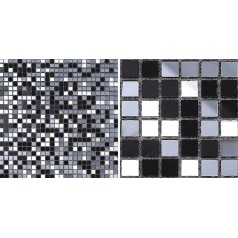 Glass Mosaic Tiles Mirrored Crystal Backsplash Tile Bathroom Wall Tile Mirror Stickers Z189
