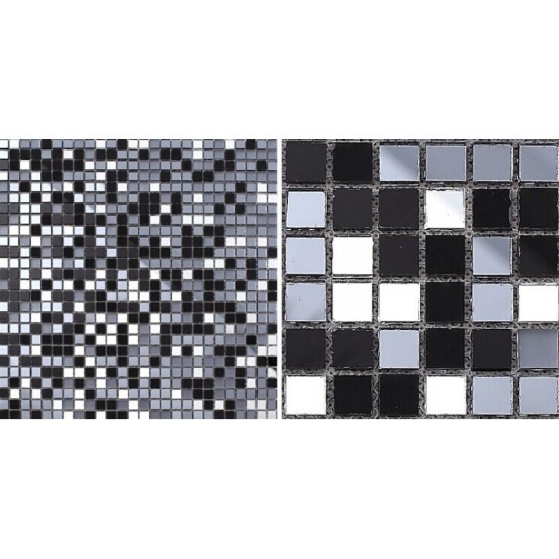 Glass mosaic tiles mirrored crystal backsplash tile - Mirror mosaic tile backsplash ...