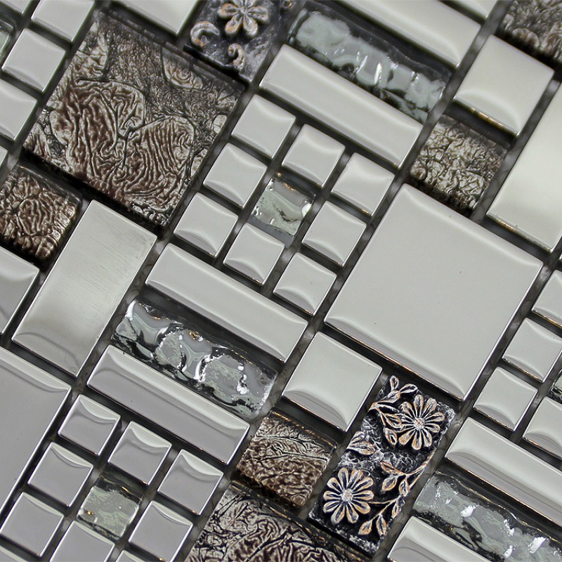 Glass Mosaic Tiles Crystal Diamond Tile Bathroom Wall