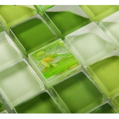 Mosaic Tile Crystal Glass Backsplash Dinner Design Bathroom Wall Floor Tiles Garden Green Painted