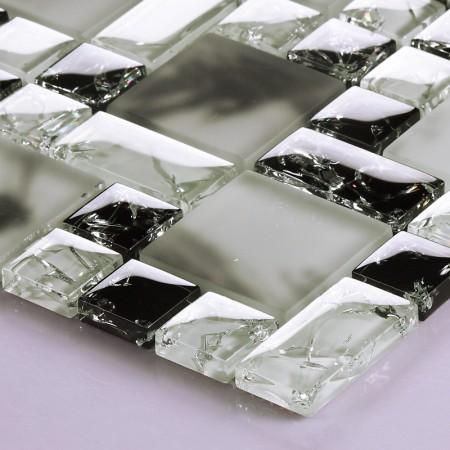 Mosaic Tile Crystal Glass Backsplash Kitchen Countertop Ice Cracked Bathroom Wall Floor Tiles 610