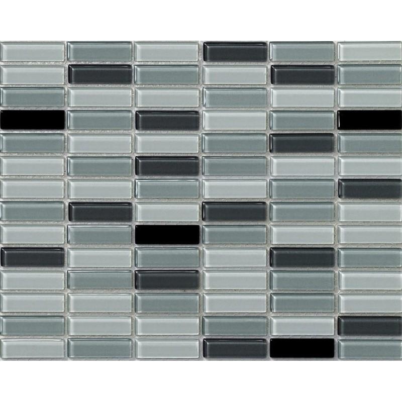 Sample Red Brown Mini Brick Crystal Glass Mosaic Tile: Crystal Glass Tile Uniform Brick Rectangle Kitchen