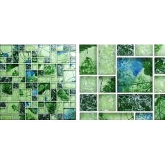 Mosaic Tile Crystal Glass Backsplash Kitchen Countertop Ice Crack Bathroom Wall Floor Tiles AG121