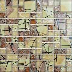 Mosaic Tile Crystal Glass Backsplash Kitchen Countertop Ice Crack Bathroom Wall Floor Tiles AG123