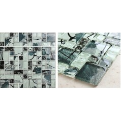 Mosaic Tile Crystal Glass Backsplash Kitchen Countertop Ice Crack Bathroom Wall Floor Tiles AG124