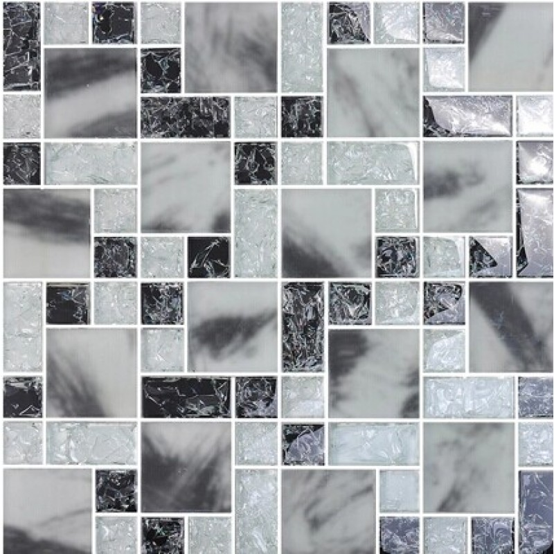 Crackle Crystal Glass Tile Backsplash Kitchen Countertop Ice Cracked