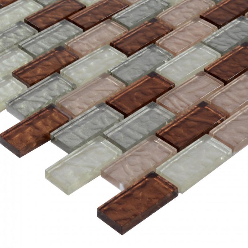 Rectangle Kitchen Floor Tiles: Subway Tiles Crystal Glass Backsplash Kitchen Countertop