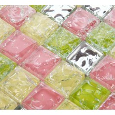 Mosaic Tile Crystal Glass Backsplash Washroom Design Ice Crack Bathroom Wall Floor Tiles Kitchen