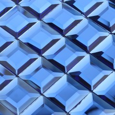 Crystal Mosaic Blue Glass Tile Backsplash Kitchen 3D Pyramid Pattern Design Bathroom Wall Tiles
