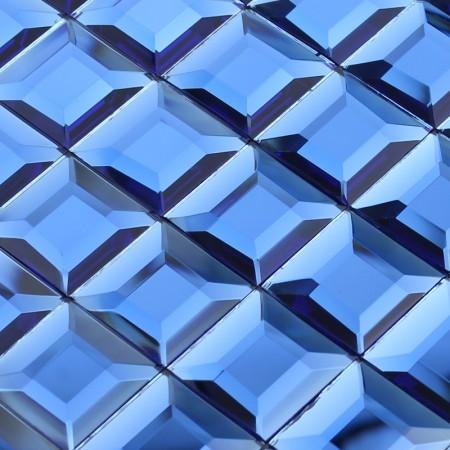 Crystal Mosaic Blue Glass Tile Backsplash Kitchen 3D Pyramid Pattern Design Bathroom Wall Tiles
